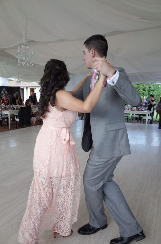 Ballroom dancing on our wedding day.