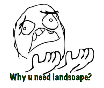 Why U Need Landscape?