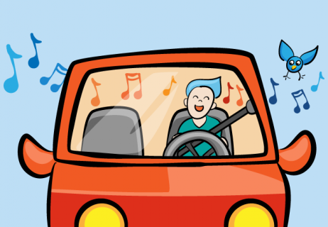 Driving while talking and singing