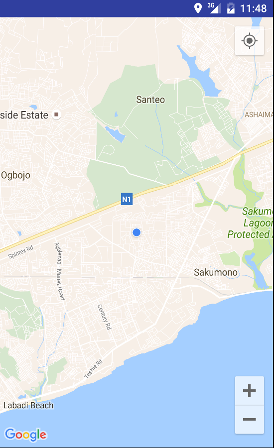 Introduction To Google Maps API For Android - My location height above sea level