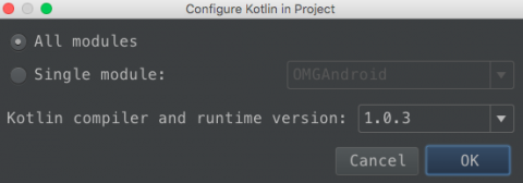 Configure Kotlin in Project
