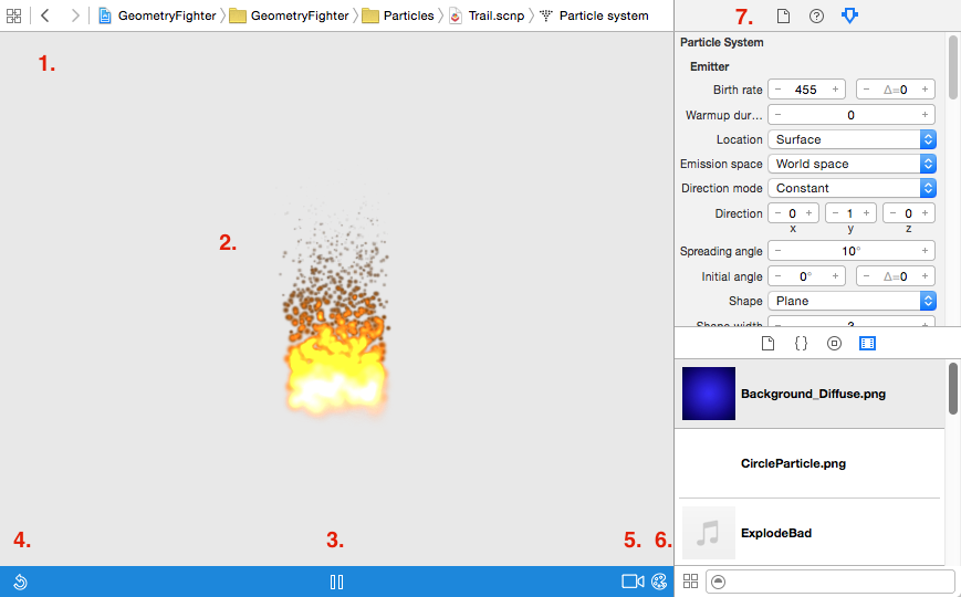 SceneKit Tutorial with Swift Part 5: Particle Systems