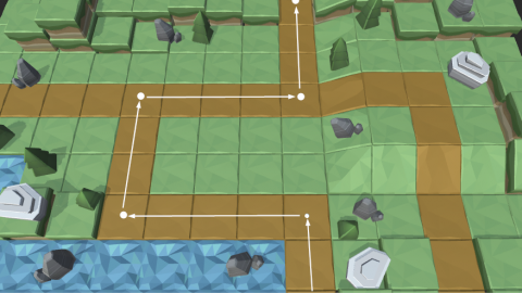 Learn how to create paths on your 3D tower defense map.