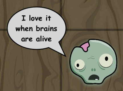 Zombies love some healthy brains..