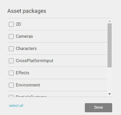 Unity Asset Packages