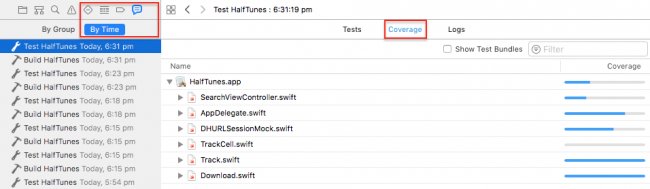iOS Unit Testing: Code Coverage Report