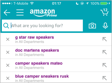 Even though Amazon saves the user's searches, it's a little cumbersome to remove searches one by one.