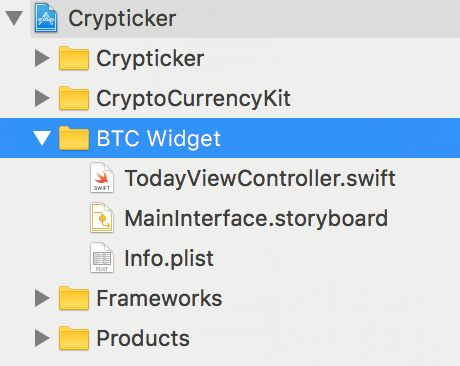 BTC Widget List of Files
