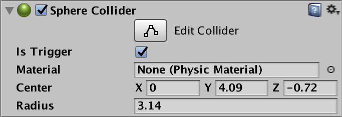 Collider settings