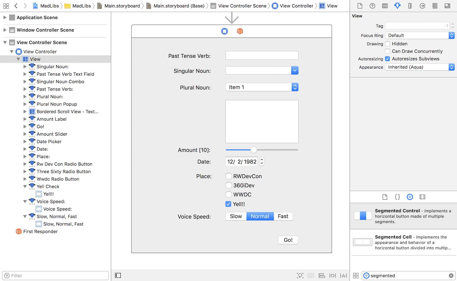 macOS Controls Tutorial: Part 2/2 | raywenderlich com