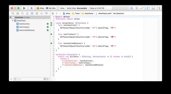 Xcode running tests