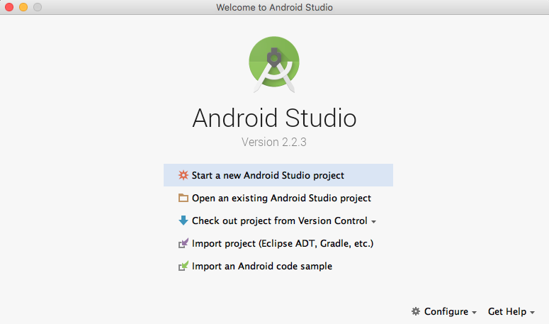 Android Studio New Project