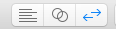 Editor selection buttons