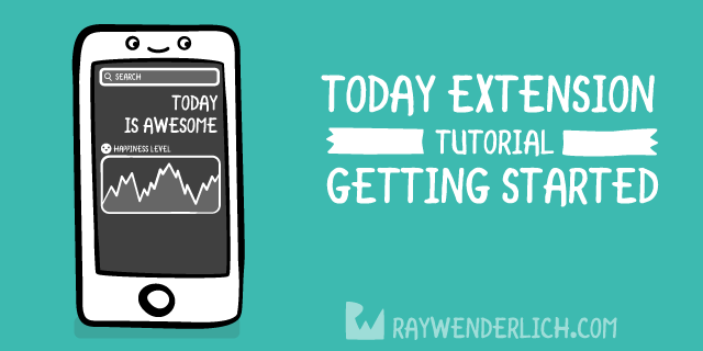 Today Extension Tutorial: Getting Started   raywenderlich com