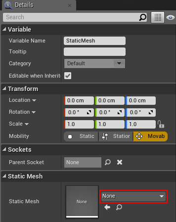 Unreal engine 4 blueprints tutorial ray wenderlich to display the red cube select the static mesh component and then go to the details tab click on the drop down located to the right of static mesh and malvernweather Images