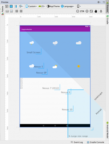 Android Preview Drag X-large