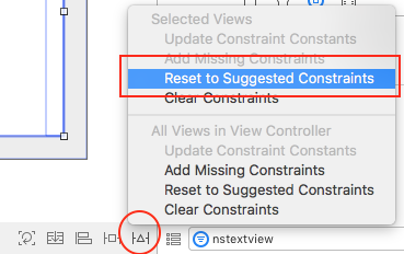 set textview constraints