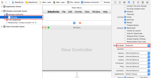 configure for tabbing