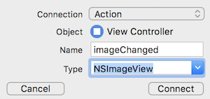 Adding the imageView action.