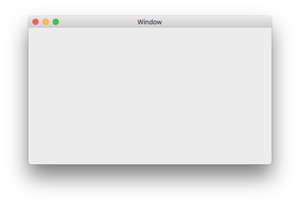 Mac starting window