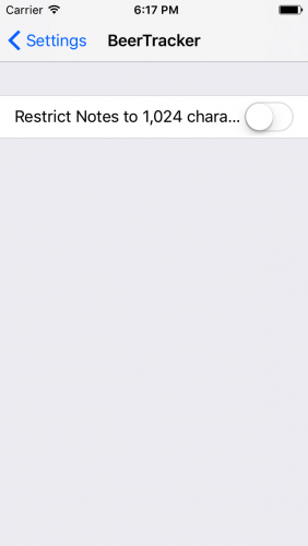 Settings - iOS