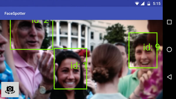 Augmented Reality - Multiple faces with ID