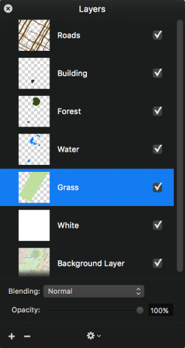 Pixelmator layers palette
