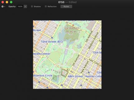 OSM tile in Pixelmator