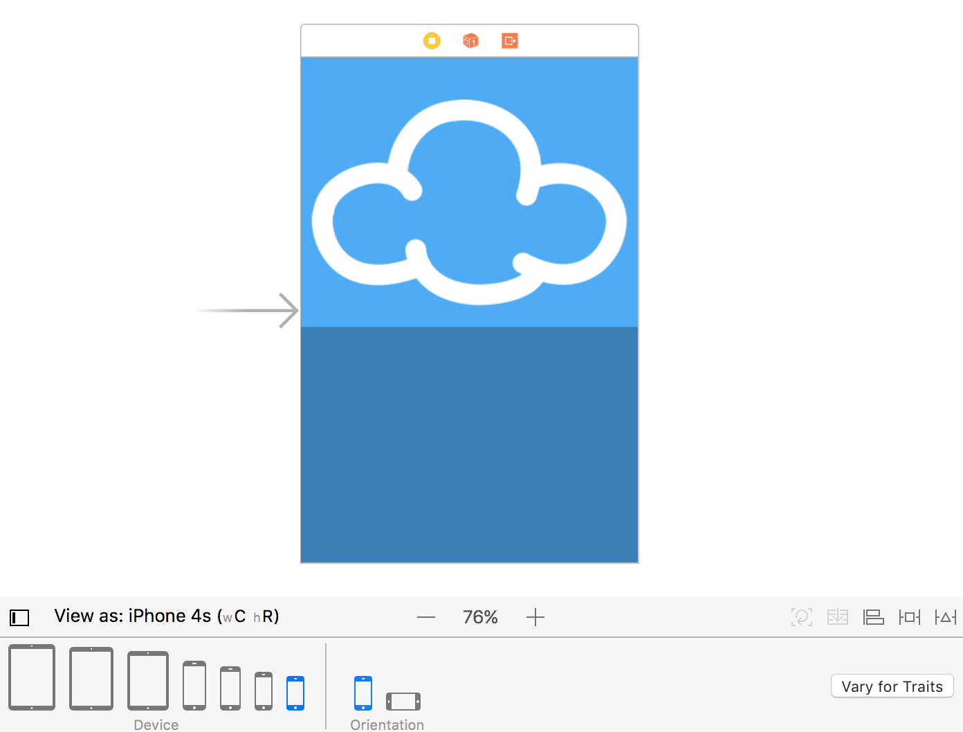 Adaptive Layout Tutorial In Ios 11 Getting Started That Configuration Albeit For A Single Switch Is Shown Here To View Your Landscape Mode Select The Orientation Area Of Trait Chooser