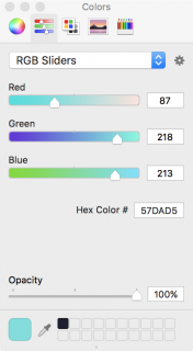 changing the fill color's RGB values