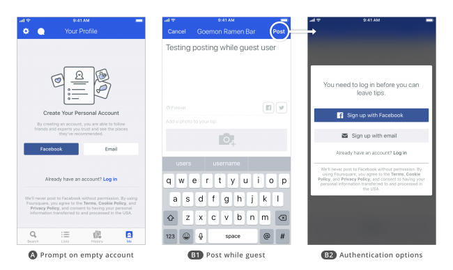UX Design patterns for mobile apps_Foursquare