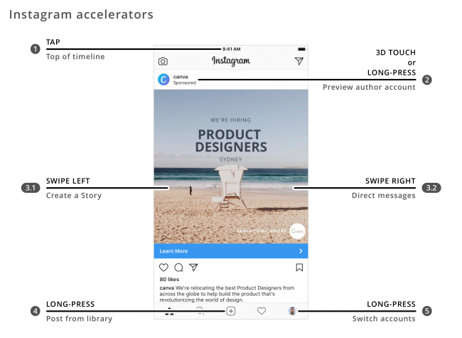 UX Design patterns for mobile apps_Instagram accelerators