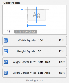 auto layout size inspector