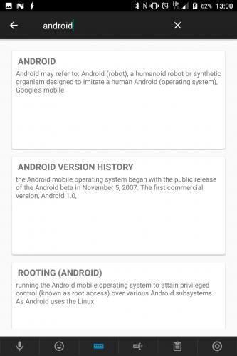 DroidWiki app