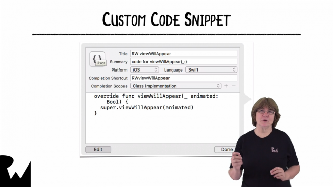 Video 8: Code Snippets
