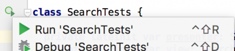 Run SearchTests