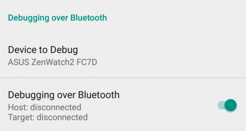 Android Wear companion app settings
