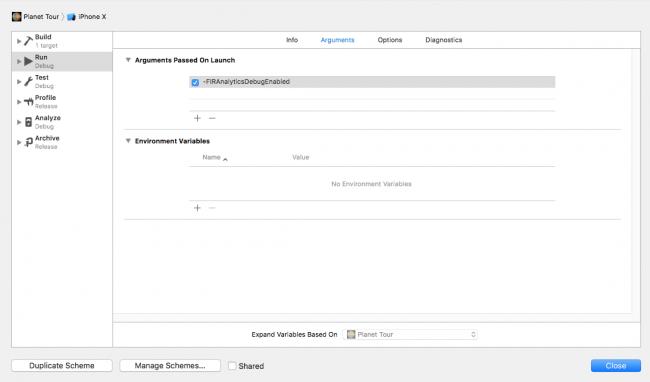 Enabling Debug View in Xcode