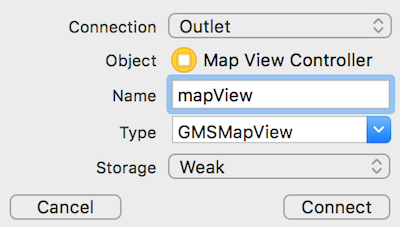 Adding the mapView outlet