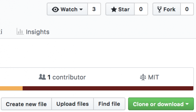 Github showing the Fork button for a repository