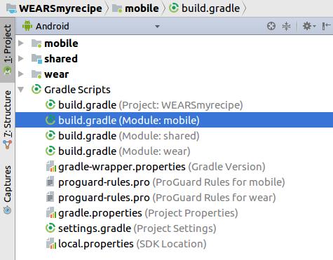 mobile build.gradle
