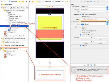 drag Container View from Object library to object hierarchy