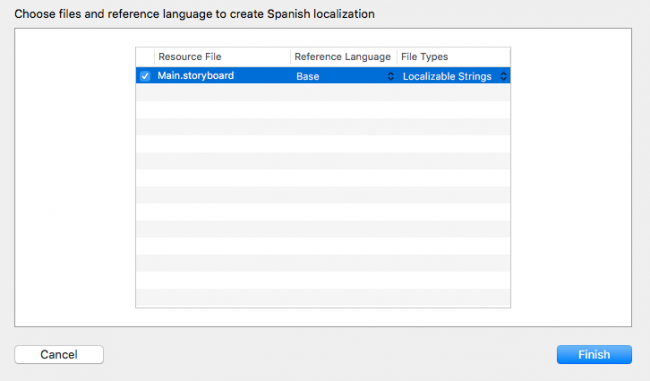 select files to add for Spanish