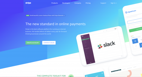 Stripe Landing Page Credit Cards iOS Stripe
