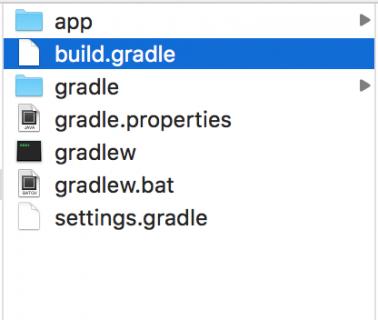 Select build.gradle