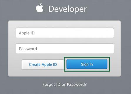 itunes developer login