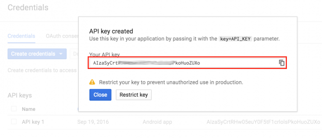 Getting an API Key