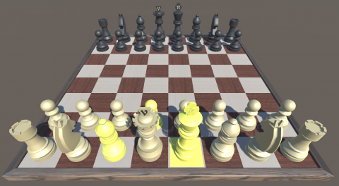 highlighted chess pieces