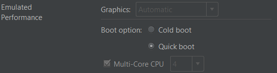 Quick Boot option