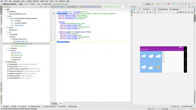 Android Studio Preview Landscape